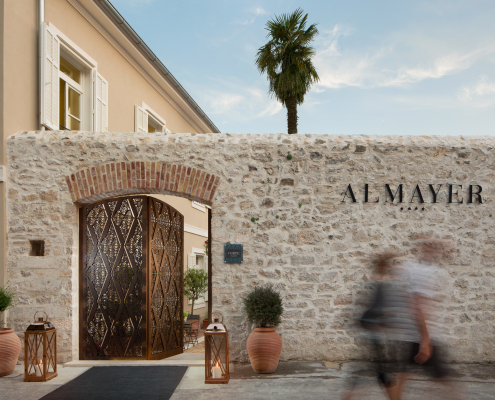 Entrance of Almayer hotel